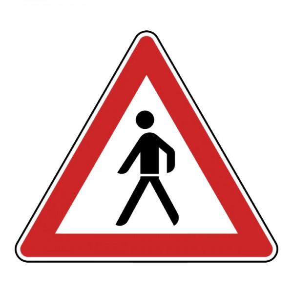 Verkehrszeichen - Fußgänger (Aufstellung rechts) Nr. 133-10