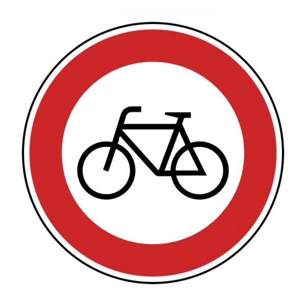 Verkehrszeichen - Verbot für Radfahrer Nr. 254