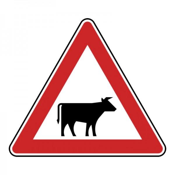 Verkehrszeichen - Viehtrieb (Aufstellung links) Nr. 140-20