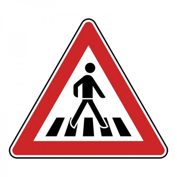 Verkehrszeichen - Fußgängerüberweg (links) Nr. 134-20